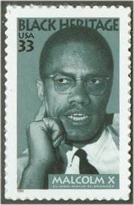 3273 33c Malcolm X F-VF Mint NH Plate Block of 4 3273pb