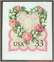 3274s 33c Victorian Love Full Sheet 3274sh