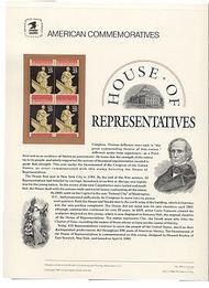 2412 25c House of Representatives USPS Cat. 328  Commemorative Panel cp328