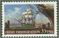 3286 33c Irish Immigration Plate Block of 4 3286pb