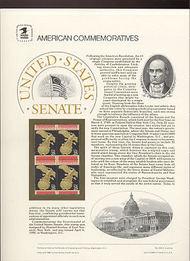2413 25c US Senate USPS Cat. 329 Commemorative Panel cp329
