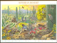 3293 33c Sonoran Desert sheet of 10 F-VF Mint NH 3293sh