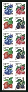 3297d 33c Fruit Berries (2000) Double Sided Booklet 3297d_mnh