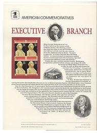 2414 25c Executive Branch USPS Cat. 330 Commemorative Panel cp330