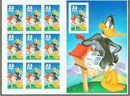 3306 33c Daffy Duck F-VF Mint NH Pane of 10 3306sh