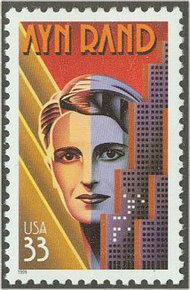 3308 33c Ayn Rand F-VF Mint NH 3308nh