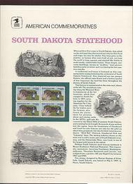 2416 25c South Dakota Statehood USPS Ca 331 Commemorative Panel cp331