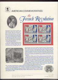 C120 25c French Revolution USPS Cat. 333 USPS Commem. Panel cp333