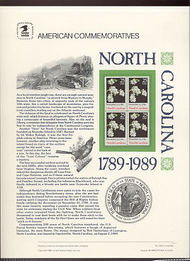 2347 25c North Carolina USPS Cat. 335 Commemorative Panel cp335