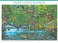 3378 33c Pacific Coast Rain Forest Mint NH Sheet of 10 3378sh