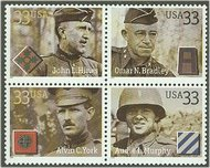 3393-6 33c Soldiers F-VF Mint NH 3393-6_mnh