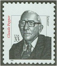 3426 33c Claude Pepper F-VF Mint NH 3426nh