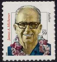 3427A 59c James Michener Full Sheet 3427ash