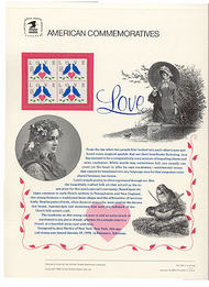 2440 25c Love-Doves & Heart USPS Cat. 344 Commemorative Panel cp344