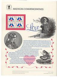 2440 25c Love-Doves & Heart USPS Cat. 344 Commemorative Panel cp344