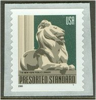 3447 (10c) Lion SA Coil F-VF Mint NH 3447nh