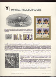 2442 25c Ida B. Wells USPS Cat. 345 Commemorative Panel cp345