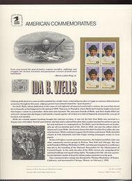 2442 25c Ida B. Wells USPS Cat. 345 Commemorative Panel cp345