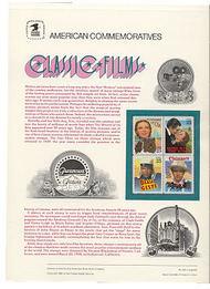 2445-8 25c Classic Films USPS Cat. 348 Commemorative Panel cp348