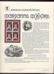 2449 25c Marianne Moore USPS Cat.349 Commemorative Panel cp349