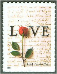 3496 34c Rose & Love Letter Full Sheet 3496sh