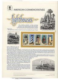 2470-4 2 25c Lighthouse Bklt USPS Cat. 350 Commemorative Panel cp350
