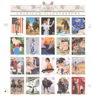 3502 34c American Illustrators Set of 20 Used Singles 3502a-tusg