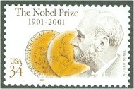 3504 34c Nobel Prize Full Sheet 3504sh