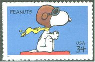 3507 34c Peanuts Full Sheet 3507sh