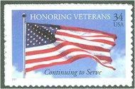 3508 34c U.S. Veterans F-VF Mint NH 3508nh
