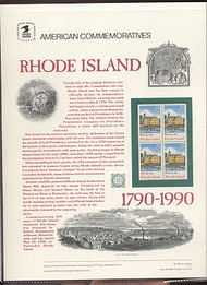 2348 25c Rhode Island USPS Cat. 351 Commemorative Panel cp351