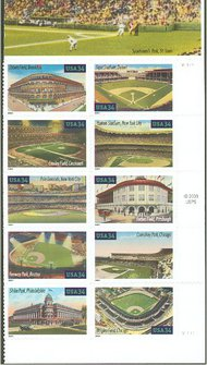 3510-9 34c Baseball Fields Full Sheet 3510-9sh