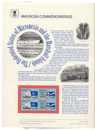 2506-7 25c Trust Territories USPS Cat. 354 Commemorative Panel cp354