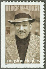 3557 34c Langston Hughes Full Sheet 3557sh