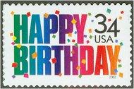 3558 34c Happy Birthday F-VF Mint NH 3558nh