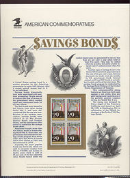 2534 29c Savings Bond USPS Cat. 361 Commemorative Panel cp361