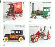 3626-9 (37c) Antique Toys F-VF Mint NH 3636-9nh