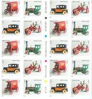 3629c (37c) Antique Toys Convertible Booklet 3629c