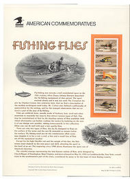 2545-9 29c Fishing Flies USPS Cat.364 Commemorative Panel cp364