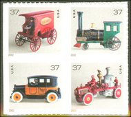 3642-5 37c Antique Toys F-VF Mint NH 3642-5nh