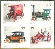 3642-5 37c Antique Toys F-VF Mint NH 3642-5nh