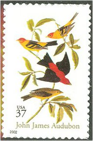 3650 37c Audubon Full Sheet 3650sh