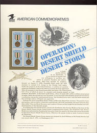2551 29c Desert Storm USPS Cat.367 Commemorative Panel cp367