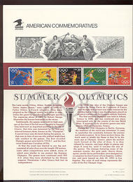 2553-7 29c Summer Olympics USPS Cat 368 Commemorative Panel cp368