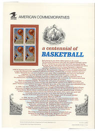 2560 29c Basketball USPS Cat. 370 Commemorative Panel cp370