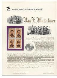 2567 29c Jan Matzlinger USPS Cat. 374 Commemorative Panel cp374