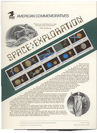 2568-77 29c Space Exploration USPS Cat. 375 Commemorative Panel cp375