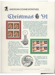 2578-9 29c Christmas USPS Cat. 377 Commemorative Panel cp377