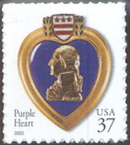 3784 37c Purple Heart BCAF-VF Mint NH 3784nh