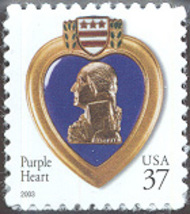 3784A 37c Purple Heart AP F-VF Mint NH 3784Anh